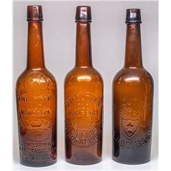 Arizona Territorial Whiskey Bottle Trio -  AZ
