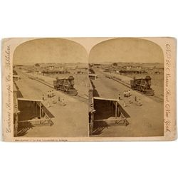 Arizona Territory First Locomotive Stereoview -  AZ