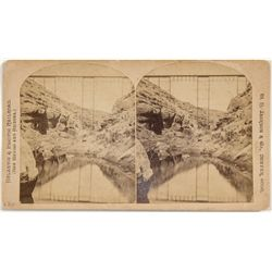 Atlantic & Pacific RR Bridge Stereo View -  AZ