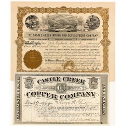 Castle Creek Mining Stock Certificates -  AZ