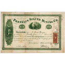 Franklin Silver Mining Co. Stock Certificate -  AZ