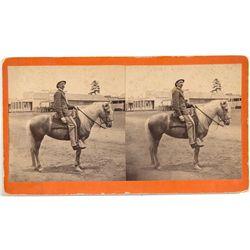 Man on Horseback Stereoview -  AZ