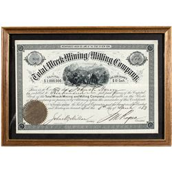 The Total Wreck Mining and Milling Co. Stock Certificate -  AZ
