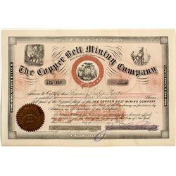 Copper Bell Mining Co. Stock Certificate - Black Hills, AZ