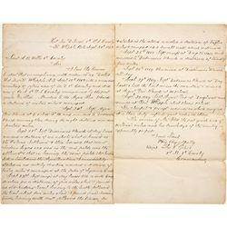 Fort Whipple Letter - Fort Whipple, AZ