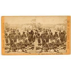 Apache Chiefs Arizona Territory Stereo View Card - Globe City, AZ