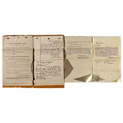 Assorted Graham County Court Papers *Territorial* - Graham, AZ