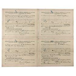 Arizona Lawsuit Subpoena Quartet *Territorial* - Graham County, AZ