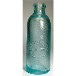 Arizona's First Hutch Soda Bottle - Phoenix, AZ