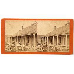 Arizona Fort Whipple Hospital Stereo View Card - Prescott, AZ