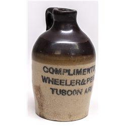Very Rare Wheeler & Perry Sample Crock - Tucson, AZ
