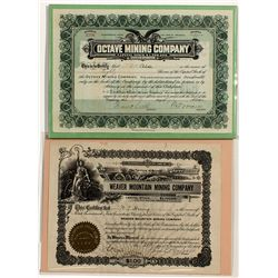 Weaver District Mining Stocks  - Weaver, AZ