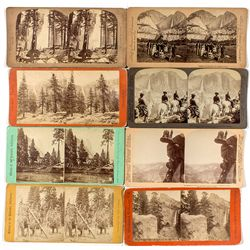 Early Yosemite Stereo View Cards Group -  CA