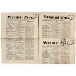 Panamint Newspapers -  Inyo County CA