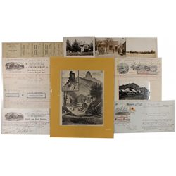 Western Stagecoach and Shipping Documents  -  CA