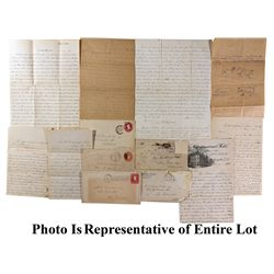 Significant Gold Rush Archive of Myron Angel to M.D. Fairchild - El Dorado County, CA