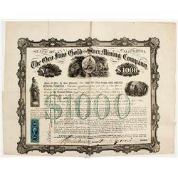 Oro Fino Gold Stock Certificate - Inyo, CA