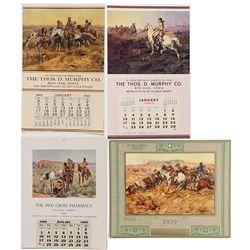 Cowboy Themed Calendar Broadside Group - Red Oak IA