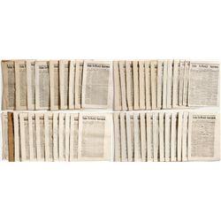 Editor Copies of The First Volume Idaho Tri-Weekly Statesman 1864 - Boise, ID