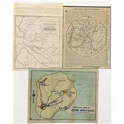 Idaho Territorial Mining Maps & Letter Sheet - Boise, ID