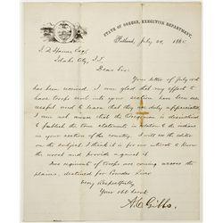 Idaho Territory Indian Uprising Letter - Idaho City , ID
