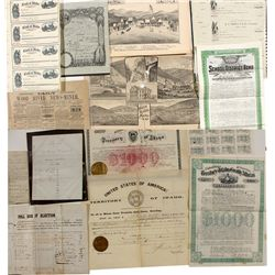 Early Idaho Territory Papers - Placerville, ID