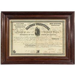 Illinois Volunteers Civil War Document  - , IL