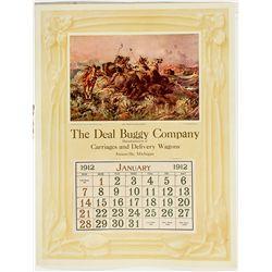 1912 Broadside Calendar - Jonesville, MI
