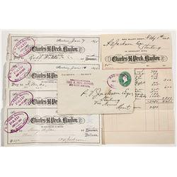 Chas. H. Peck Banker Ephemera - Red Bluff, MT
