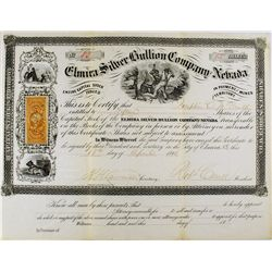 Elmira Silver Bullion Company of Nevada Stock Certificate  -  NV