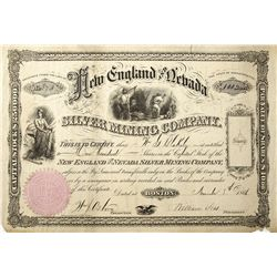 New England and Nevada Stock Certificate -  NV