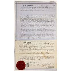 "Quit Claim Deed Document w/ Union Cancel ""Territorial"" - Austin, NV"