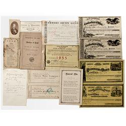 Carson City Business Ephemera Collection - Carson City, NV
