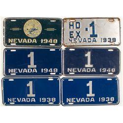 Nevada Gov. License Plates - Carson City, NV