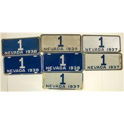 Nevada Governor's License Plates Collection - Carson City, NV