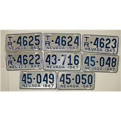 Nevada License Plate Collection 1947 - Carson City, NV