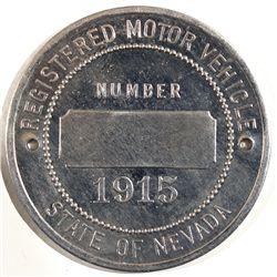 Nevada Motor Vehicle License Medallion - Carson City, NV