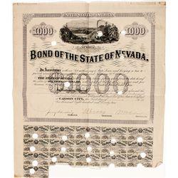 State of Nevada $1000 Bond - Carson City, NV
