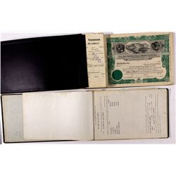 The Big Swede Gold Mines Co. Stock Certificates and Meeting Minutes Books - Gilbert, NV