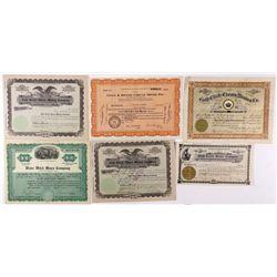 Rare Gold Circle Midas Stock Certificates Group - Gold Circle, NV