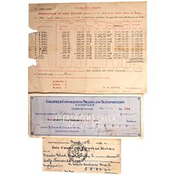 Goldfield Consolidated Mine Documents - Goldfield, NV