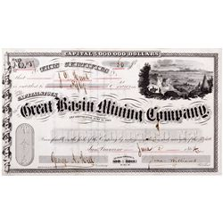 Great Basin Mining Co. Certificate  - Unionville, NV