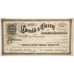 Flood: Gould & Curry Silver Mining Co. Stock Certificate with Flood Signature - Virginia City, NV