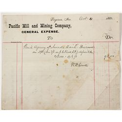 Flood: Pacific Mill & Mining Co. General Expense Report - Virginia City, NV