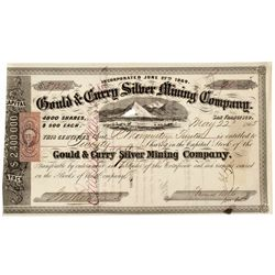 Gould and Curry Silver Mining Company Stock Certificate - Virginia City, NV