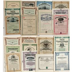 Mexican Mining Stock Certificates - Virginia City, NV