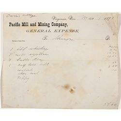 Pacific Mill & Mining Co. Expense Report - Virginia City, NV
