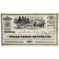 Wells Fargo Mining Co. Stock Certificate - Virginia City, NV