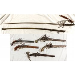 Arsenal of Decorative Pirate Style Guns & Military Sword -
