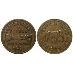 Mules City Brass Token - Mules City, MT